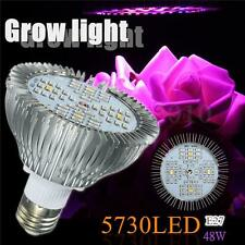E27 48W LED Hydroponic Plant Grow Light Bulb Full Spectrum Indoor Growing Lamp