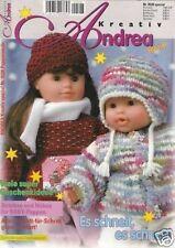 ANDREA # 0528 Es schneit ! Es schneit !Stricken & Nähen für Babypuppen