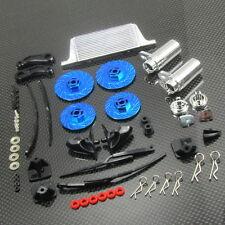 1/10 1/16 Drift Car On Road Tuner Kit Wipers Mufflers Brake Disc TOYZ 758 Blue.