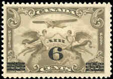 1932 Canada Mint NH F+ Scott #C3 6c on 5c Air Mail Issue Stamp