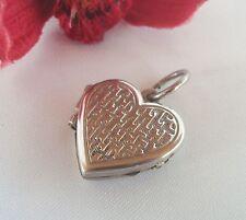 Medaillon Anhänger aus 835 Silber Kettenanhänger Herz Herzanhänger / hh 437