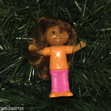 Cabbage Patch Kids Custom Christmas Tree Ornament - Girl CPK Doll w/comable Hair