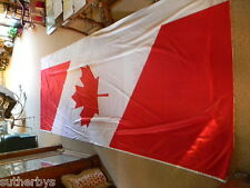 "One HUGE CANADIAN Banner 4 x 14 ft Vertical  Big Red 45""in Tall Maple Leaf Flag"