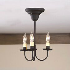 Irvin's Tinware 3 Arm Primitive Ceiling Light - Country Pendant Lighting - New!