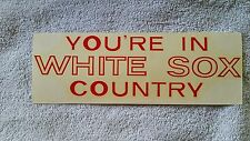 Vintage 1967/68 Chicago White Sox bumper sticker-Rare