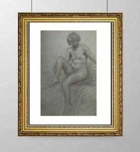SIMONE BLANC-DEROCQUE (1903-2000) SUPERBE NU FEMININ VERS 1930 (9)