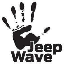 """(2x) 5"""" Jeep Wrangler Wave Club Emblem Logo Owner Trend Decals Stickers CJ YJ XJ"""