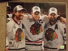 DUNCAN KEITH JONATHAN TOEWS PATRICK SHARP Autographed Signed16x20 Photo PSA/DNA