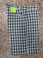 NWT Men's Izod Flat Front XFG Golf Shorts Multi Colored Plaid 33