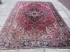 Old Shabby Chic Hand Made Traditional Persian Oriental Wool Red Carpet 293x224cm