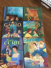 ANIMATED HERO CLASSICS Activity Book Lot 6 Historical Figures KELLER CURIE NEW
