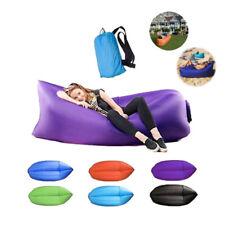 Outdoor Inflatable Air Sofa Beach Camping Lazy Portable Sleeping Bag Folding