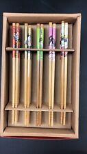 10pc Lucky Bamboo Chinese Chopsticks Handmade Tableware ChopSticks Gift Set