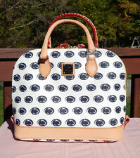 Dooney & Bourke NCAA Penn State Zip Zip Satchel White, A43PS WH, New with Tags