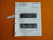 SERVICE MANUAL Kenwood KR A5030 english Service Anleitung