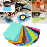 Kitchen Silicone Heat Resistant Table Mat Non-slip Pot Pan Holder Pad Cushion