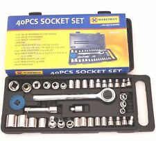 Reversible Ratchet Handle Extensionbar Marksman Quality Tools 40 PC Socket Set