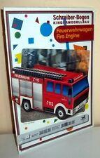 KARTONMODELLBAU  Feuerwehrwagen  SCHREIBER-BOGEN 725 Cardboard Modelling