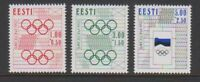 Estonia - 1992, Olympic Games, Barcelona set - MNH - SG 176/8