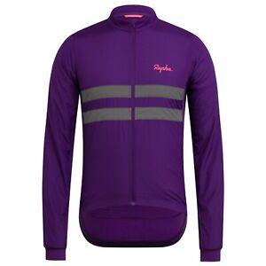 NEW Rapha Men's Cycling Jersey L Brevet Long Sleeve Windblock Large Purple RCC