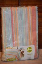 "Food Network Indoor/Outdoor 60"" X 84"" Woven Tablecloth Umbrella Zipper stripe"