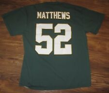 NFL Green Bay Packers Clay Mathews Mens T-shirt, Green, Majestic, Size L, EUC