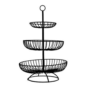 3 Tier Detachable Fruit Basket, Kitchen and Table Organizer, Wired Metal Basket