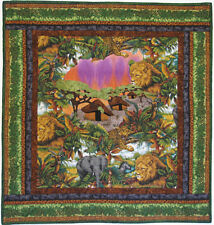 Art Quilt Handmade Jungle Theme Quilted Wall Hanging HMJQuiltsPlus