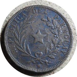 elf Paraguay 4 Centesimos 1870  Star