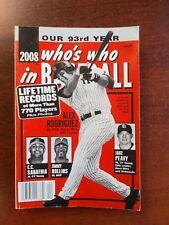 2008 Who's Who in Baseball magazine,Alex Rodriguez, Jimmy Rollins, C.C. Sabathia