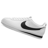 NIKE MENS Shoes Classic Cortez Leather - White & Black - OW-819719-100