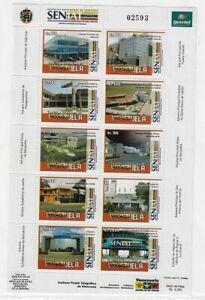 Venezuela: 2006; Scott 1660, sheet of 10. National tax custom 2nd, EBV395