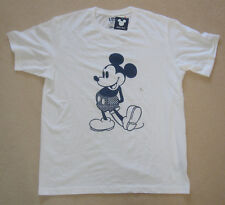 UNIQLO MICKEY BLUE Mickey Mouse White T-Shirt Size Large NWT