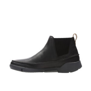 """SALE! RRP £105! CLARKS """"TRI POPPY"""" WOMENS BLACK LEATHER ANKLE BOOTS,ALL SIZES"""