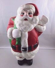 "Vintage Hand Painted Ceramic Santa Claus w/Toy Sack Christmas Figurine 14"" Tall"