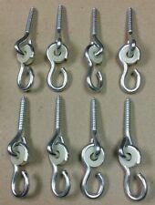 Lot of 8 New LAG SCREW SWING HANGERS, swingset swivel hook hardware playhouse