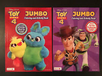 PIXAR TOY STORY 4 JUMBO COLORING AND ACTIVITY BOOKS! 🌟