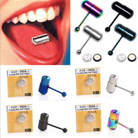 Fashion Vibrating Tongue Bar Stud Ring Powerful Vib Bell Piercing Body Jewerly