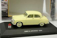Nostalgie 1/43 - Simca Aronde 1954 Jaune