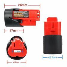12V 2000mAh Battery for Milwaukee M12 C12 BX C12 B 48-11-2402 48-11-2401