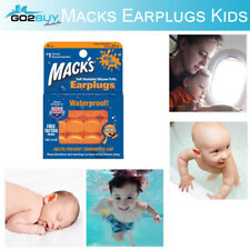 6x Mack's Soft Moldable Silicone Ear Plugs Swimming Study Sleep KIDS Earplugs