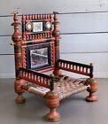 Antique Handmade Ornate Punjabi Wedding Chair