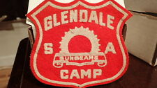 Vintage SALVATION ARMY GLENDALE BAND CAMP Collectible Patch Red Shield Logo