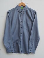 Fantastic Genuine HUGO BOSS Men's Blue/Grey Long Sleeve Shirt MEDIUM Fit 38-40""
