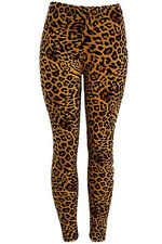 WOMEN PLUS SIZE BRUSHED POLY LEOPARD PRINTED LEGGINGS SSP8072