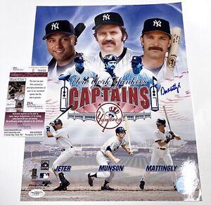 Don Mattingly - New York Yankees Captains - Autographed 11x14 w/ JSA COA