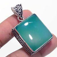 Green Onyx Ethnic Jewelry Handmade Antique Design Pendant BP-1609