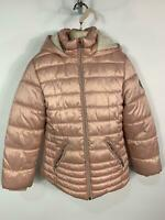 GIRLS NEXT PINK CASUAL WINTER PADDED SCHOOL HOOD RAINCOAT JACKET KIDS AGE 11 YRS