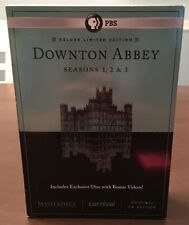Downton Abbey DVD Seasons 1, 2 & 3 Deluxe Limited Edition 10 Disk Box Set