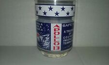 vintage NASA Collectors Glass  APOLLO 13 safe return SPACE ROCKET bar ware juice